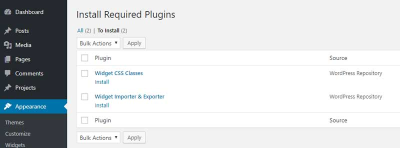 Installing plugins